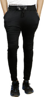 Zcell Black Slim -Fit Flat Trousers