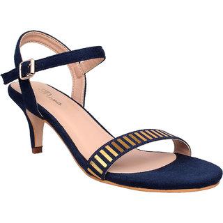 Flora Comfort Blue Heeled Sandal