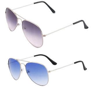 aff1b1c70e Buy Royal Son Purple Aviator and Blue Aviator Unisex Sunglasses ...