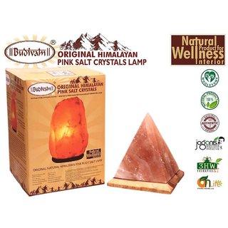 Budivam Original Himalayan Pink Salt Crystal Lamp Pyramid