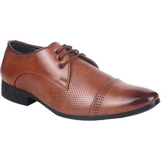Do Bhai Men's Tan Derby Shoe