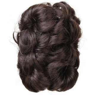 Out Of Box Funky Cluther 5 inch Hair Extension(Brown)