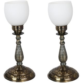 Somil New Designer Bed Corner & Central Table Lamp With Colorful Decorative Glass And Royal Look High Quality Stand nx35