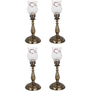 Somil New Designer Bed Corner & Central Table Lamp With Colorful Decorative Glass And Royal Look High Quality Stand nx85