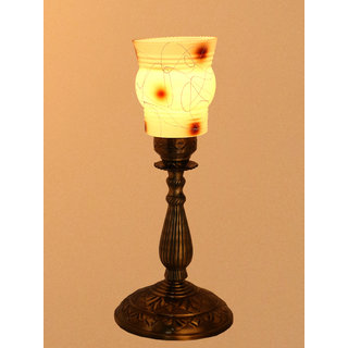 Somil New Designer Bed Corner & Central Table Lamp With Colorful Decorative Glass And Royal Look High Quality Stand AE6