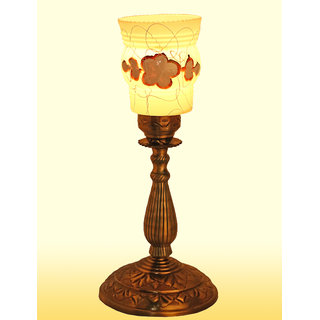 Somil New Designer Bed Corner & Central Table Lamp With Colorful Decorative Glass And Royal Look High Quality Stand AE9