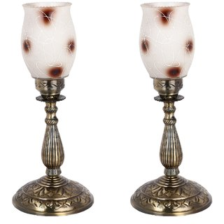 Somil New Designer Bed Corner & Central Table Lamp With Colorful Decorative Glass And Royal Look High Quality Stand nx23