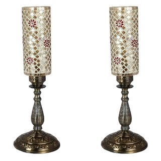 Somil New Designer Central Table Lamp With Colorful Long Glass Decorative With Colorful Beads & Chips & High Quality Stand Bg4