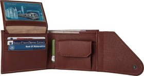 Leather Wallet for Men, Original Leather, Brown, (M-0022)