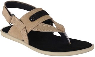 Port Men's Grey Leather New Look Casual Sandal