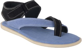 Port Men's Blue Leather New Look Casual Sandal