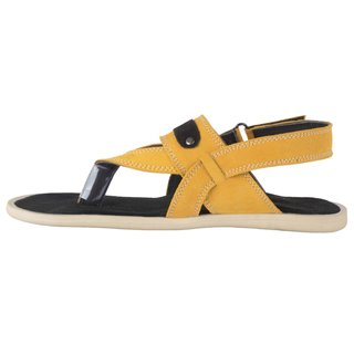 7d68acdf372b66 Buy Port Men s Yellow Leather New Look Casual Sandal Online - Get 21 ...