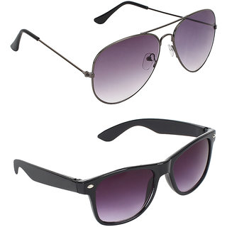 Zyaden Combo of 2 Aviator Sunglasses