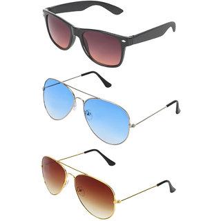 2ed50420f0 Buy Zyaden Combo of 3 Wayfarer Sunglasses Online - Get 68% Off