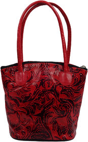 Zint Pure Leather Floral Multi Color Handbag Boho Indian Shantiniketan Tooled Painted Ethnic Purse