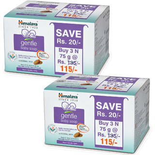 Himalaya Gentle Babay Soap Value Pack 75 Gms (Pack of 2 - 6 Soaps)