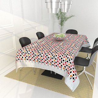 The Intellect Bazaar PVC Table Cover for 4 seater, Multi