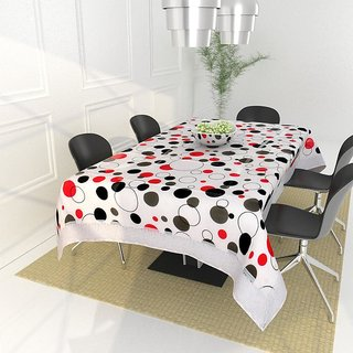The Intellect Bazaar PVC Table Cover for 4 seater, White