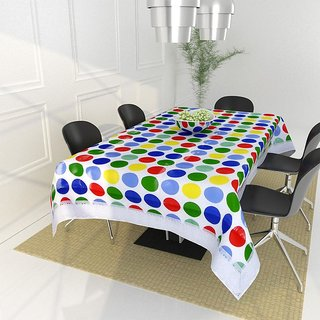 The Intellect Bazaar PVC Table Cover for 4 seater, Blue