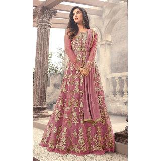 Designer Pink Color Long Gown With Fany Work SKU ER110113