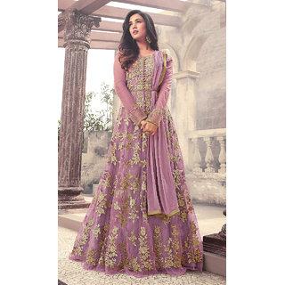 Designer Purple Color Long Gown With Fany Work SKU ER110111