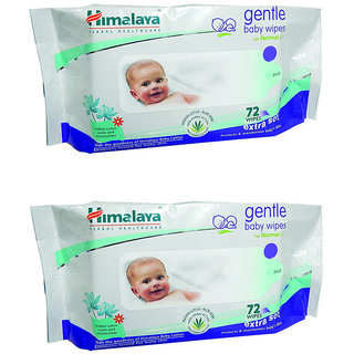 Himalaya Gentle Baby Wipes 72 (Pack of 2)
