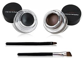 Miss Rose Long Lasting 24H Gel Eyeliner 2 in 1 Black and Brown