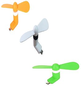 (Pack of 2) V8 mini fans for Smartphones by KSJ Accessories (Assorted Colors)