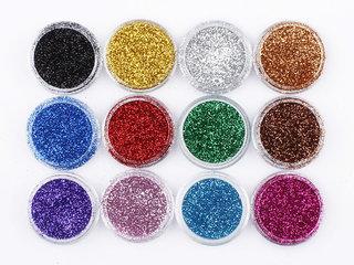 Multi Colours Glitter Eye Pigment HOT NEW 12 PCS