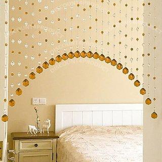 25 StringS Door Window Curtain Divider Separator Decoration Crystal Strings Bead Hanging Curtain-Brown