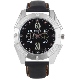 Telsa T-000T043 Hydra Black Dial Analog Watch.