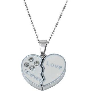 Sullery Enamel Broken  Heart Best Friends Friendship Forever Love Manget Heart Necklace Pendant