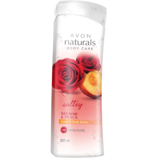 Naturals Red Rose Peach Body Lotion 200ml (Restage)