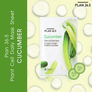 Plan 36.5 Plant Cell Daily Mask Cucumber 1 Sheet