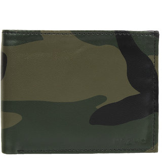 58a8e71f034f KEZRO Men s Army Green Wallet (Synthetic leather Rexine)