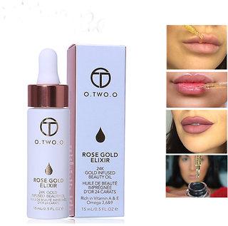 24k Rose Gold Elixir Skin Make Up Oil Infused Beauty Oil Essential Oil Before Primer Foundation