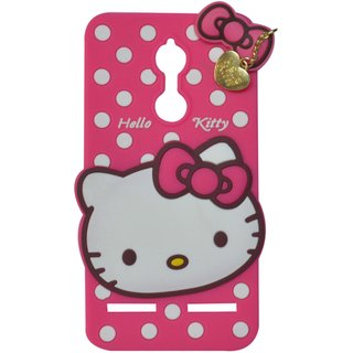 Style Imagine Hello Kitty 3D Designer Back Cover Lenovo K6, Lenovo K6 Power - Pink