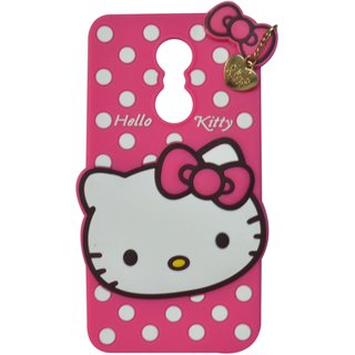Style Imagine Hello Kitty 3D Designer Back Cover Lenovo K6 Note - Pink