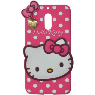 Style Imagine Hello Kitty 3D Designer Back Cover Nokia 6 - Pink