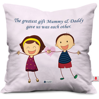 Indigifts Rakhi Gifts for Siblings Greatest Gift is Siblings Beautiful Pink Cushion Cover 12x12 with Filler - Raksha Bandhan Gifts for Brother Sister on Birthday & Anniversary