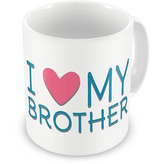 Indigifts Rakhi Gifts Bro Coffee Mug Ceramic Blue 330 ml Set of 1