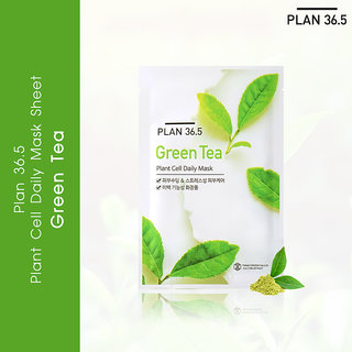 Plan 36.5 Plant Cell Daily Mask Green Tea 1 Sheet