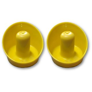 JBB Set of Two Yellow Air Hockey Pushers