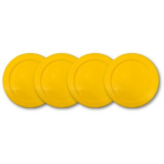 JBB Set of Four Air Hockey Strikers in Yellow Colour