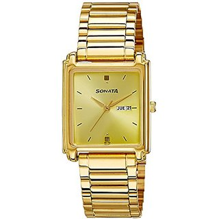 Sonata Analog Champagne Dial Mens Watch - NF7053YM05A