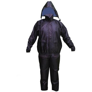 S.K.Enterprises Solid Mens Raincoat Black / Blue (As Per Availability)