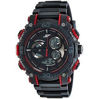 Sonata Digital Black Dial Mens Watch-77070PP03