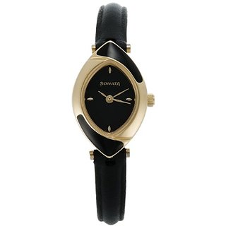 Sonata Analog Black Dial Womens Watch - NF8069YL01