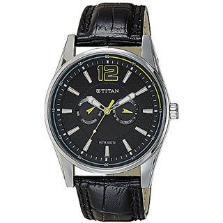 Titan Octane Analog Black Dial Mens Watch - NC9322SL07J