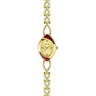 Sonata Analog Yellow Dial Womens Watch - NF8069YM02
